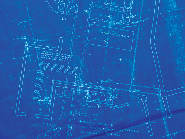 Blueprint on Hvac System Schematic